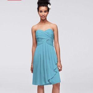 Crinkle Chiffon Bridesmaid dress